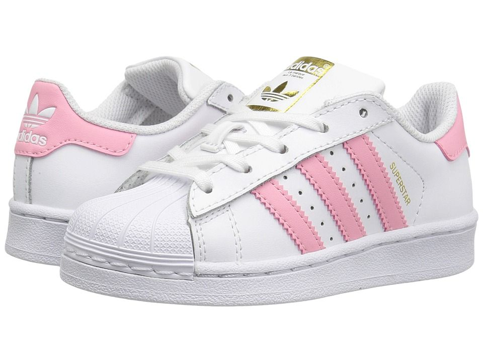 pretty nice 809c8 4b7a5 adidas Superstar (Little Kid) Originals Kids Girls Shoes White Pink