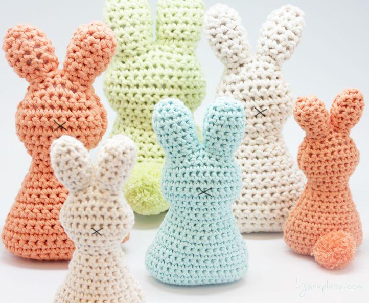 Crochet an Easter bunny! | Conejo, Patrones amigurumi y Zapatitos ...