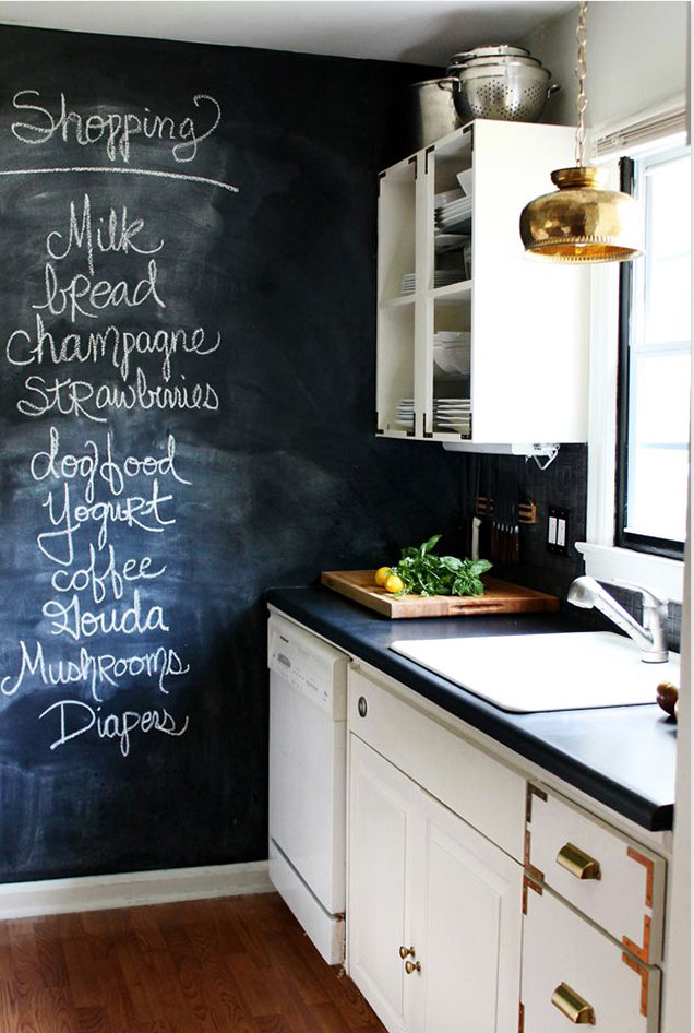 Paint Your Kitchen Cabinets With Chalkboard Paint Sweet Home