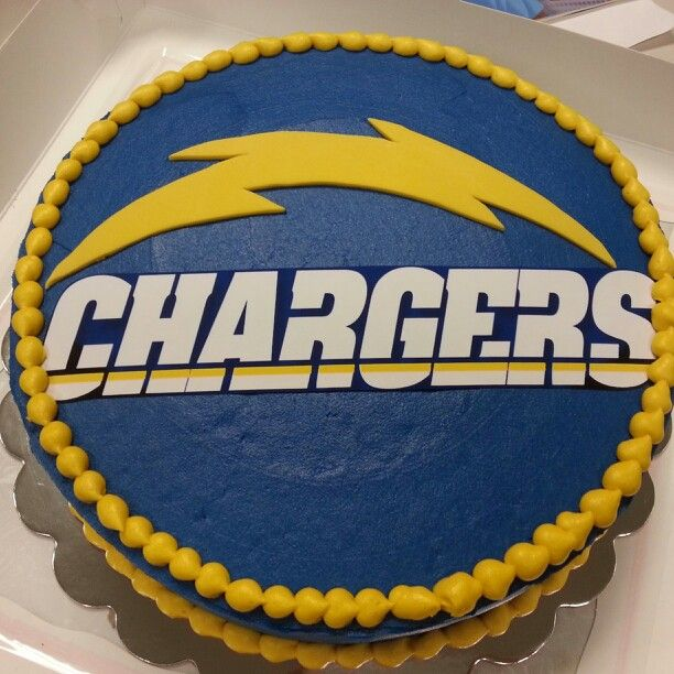 ddb07d3e San Diego chargers cake Like the script onChargers name | 4 EricBday ...