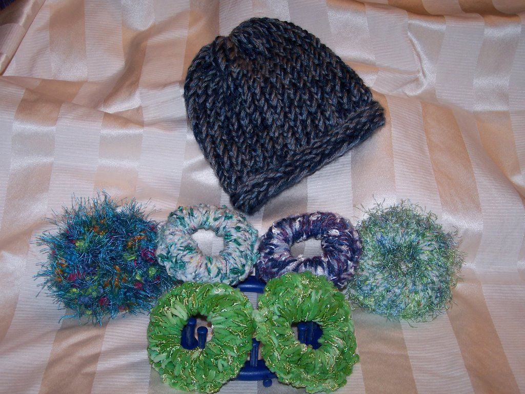 Hair Scrunchies on the KK Blue Loom | Knifty Knitter Patterns ...