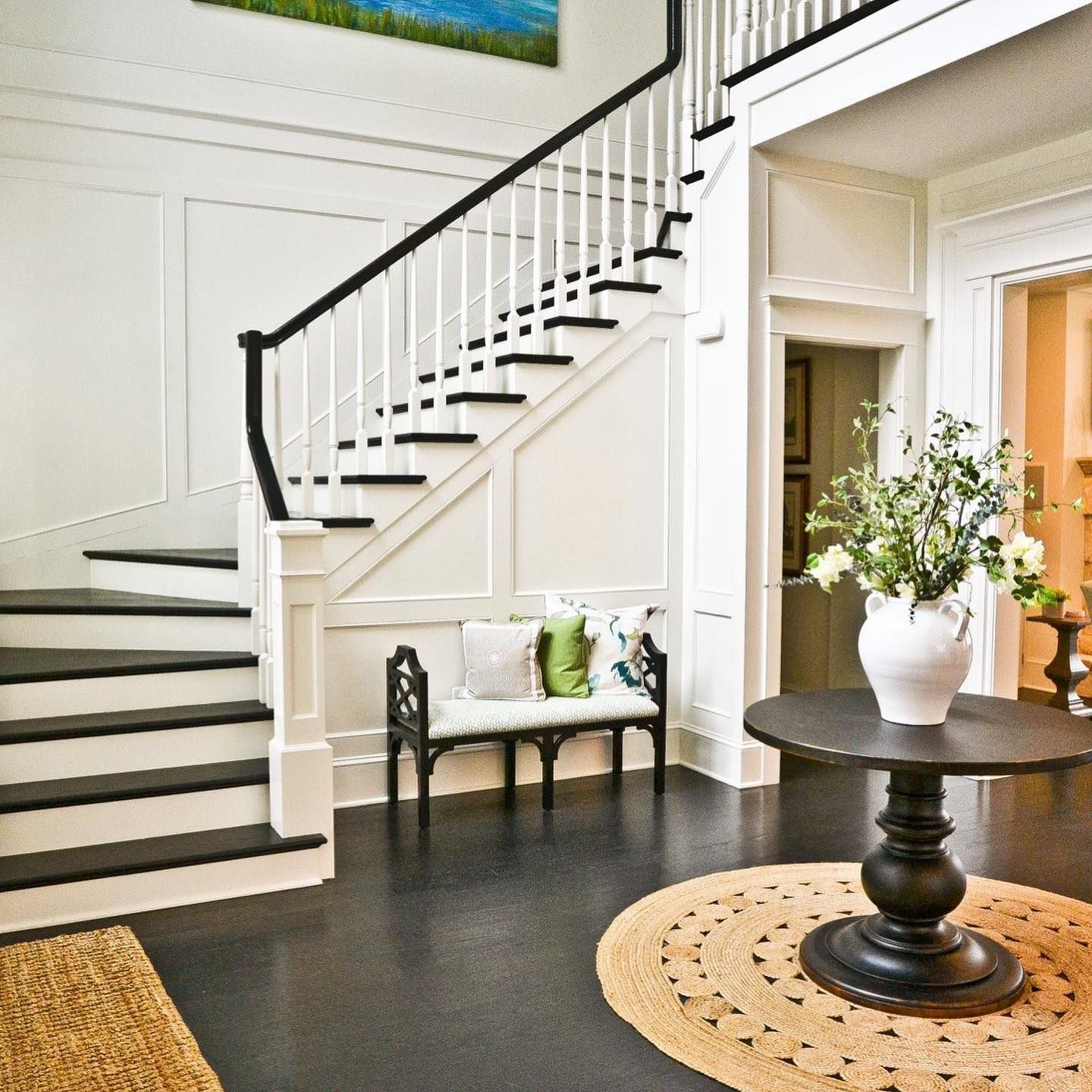 Thank You To Kathryn Lynne Photography And These Amazing Clients For Making My Job So Fun This Year In 2020 Entryway Stairs Colonial House Interior Staircase Decor