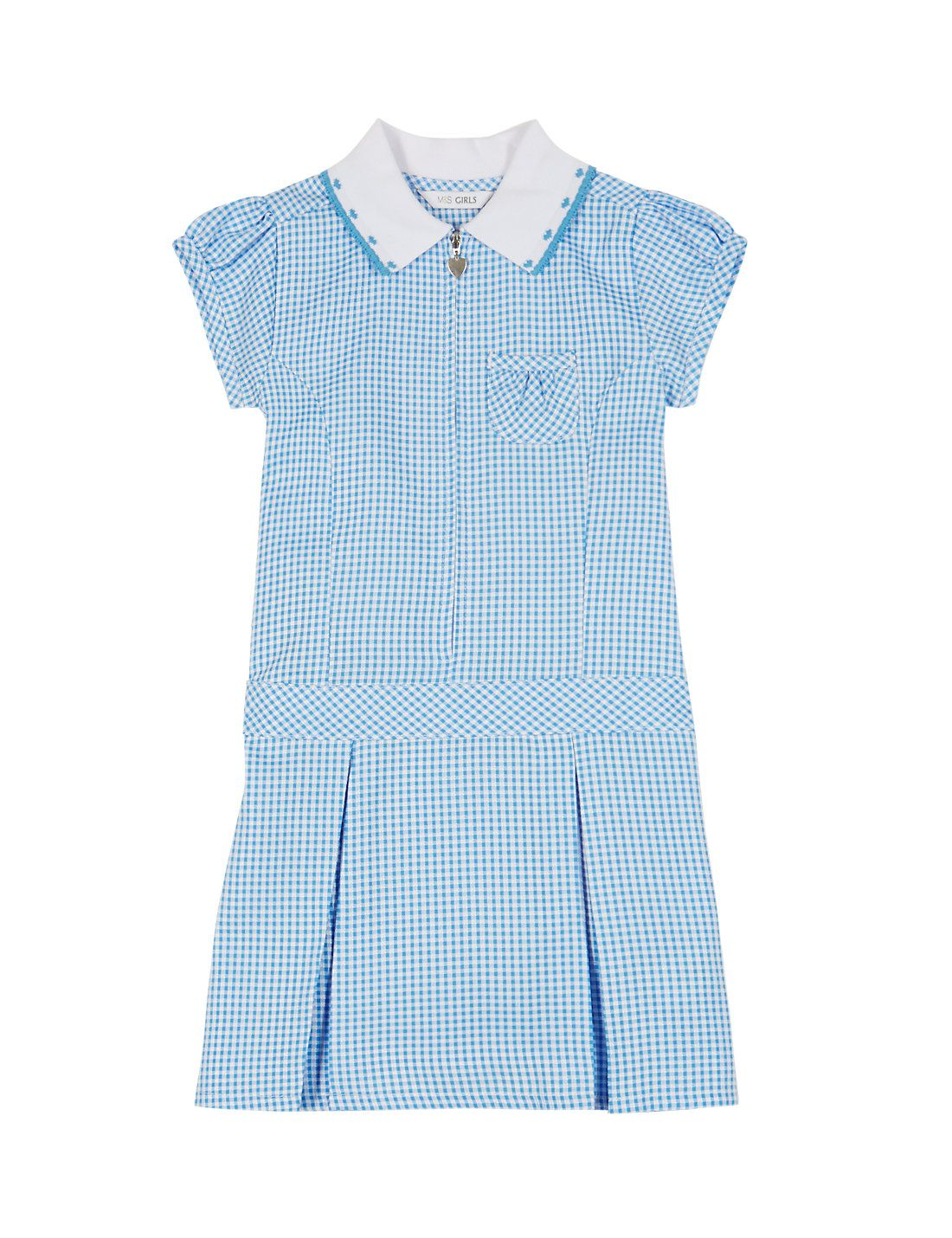 Blue gingham school summer dress