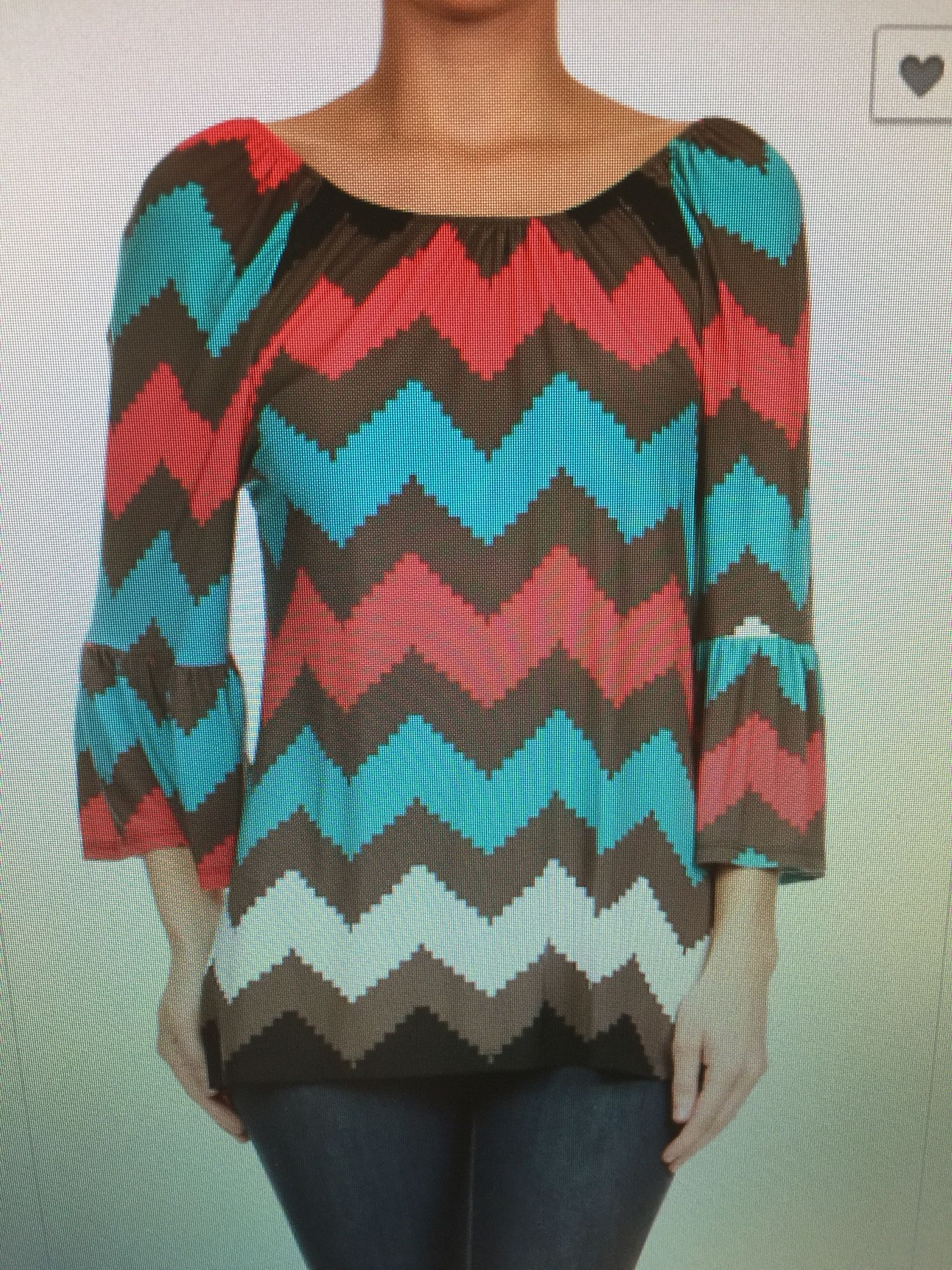 Chevron Top Available In Sizes Small Medium And Large