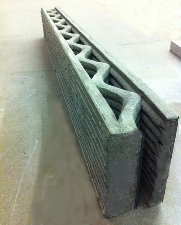 3D Printed Concrete Wall.