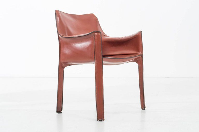 Mid Century Modern Pair Of Mario Bellini Cab Chairs For Sale