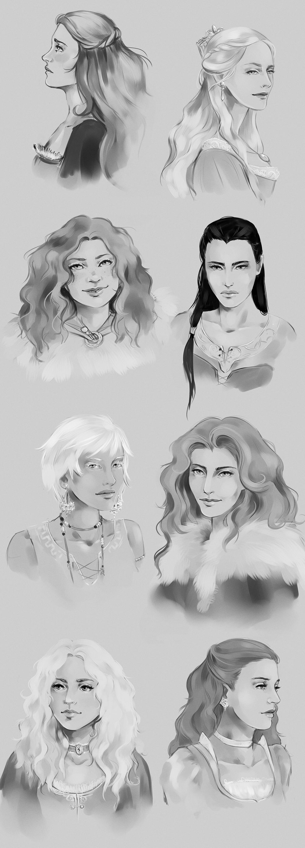 ASoIaF Girls Sketchdump by fee-absinthe on DeviantArt