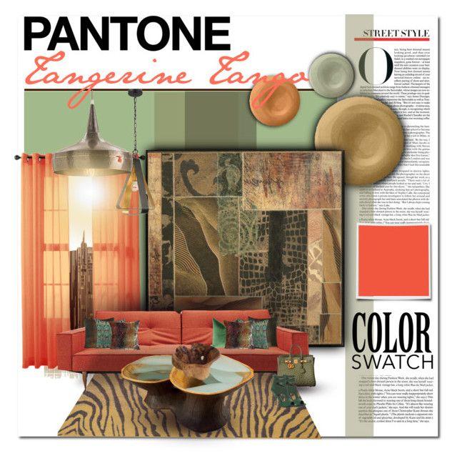 Pantone Tangerine Tango By Designsbylea On Polyvore Featuring Interior Interiors Design Home