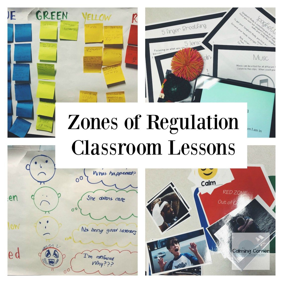 Zones Of Regulation Class Lessons