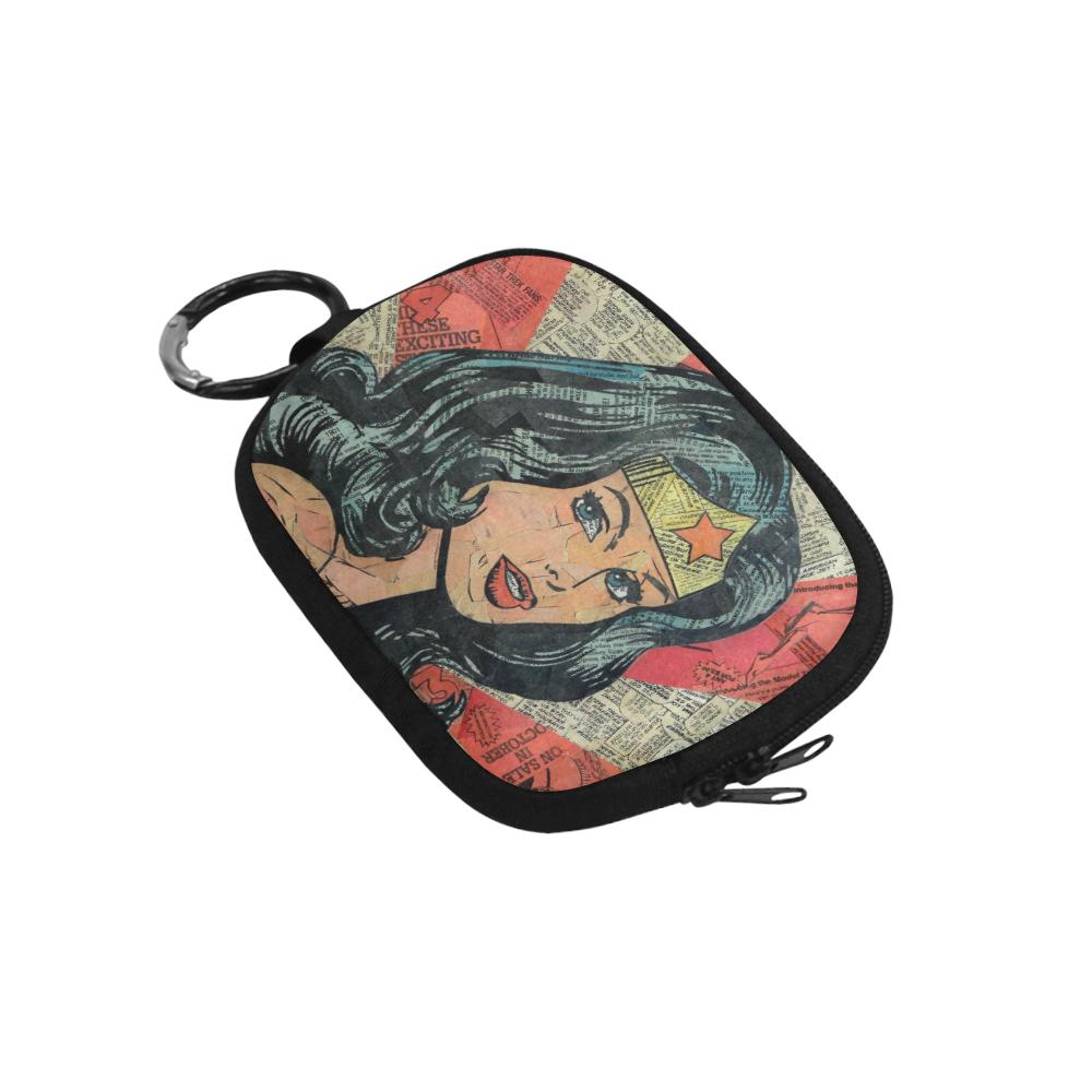 Wonderwoman wonder woman Girl comic marvel dc handmade fabric coin change purse zipper pouch