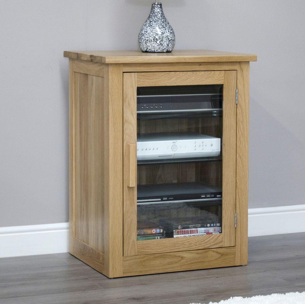 Arden Solid Oak Hi Fi Stereo Storage Cabinet Modern Living Room Furniture