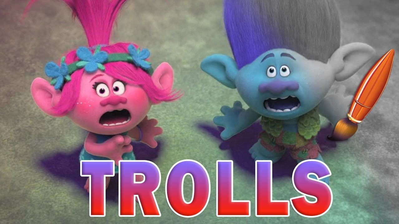 Trolls coloring pages baby poppy - Trolls Movie Poppy Branch Coloring Book Pages Video For Kids Coloring
