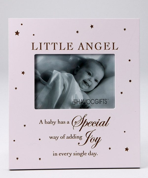 Look at this Pink 'Little Angel' Engraved Frame on #zulily today!