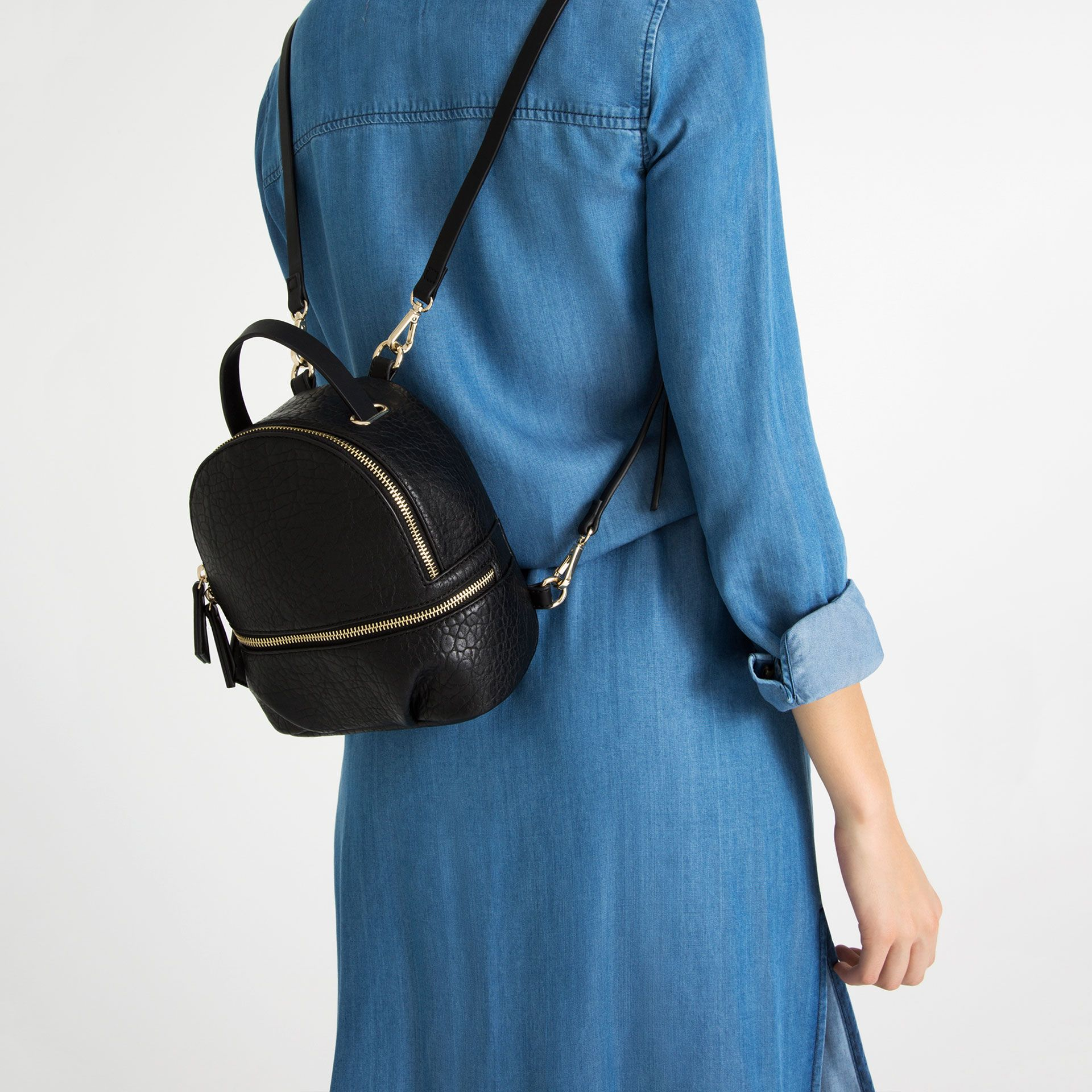 723c428d62 Image 2 of CONVERTIBLE BACKPACK from Zara | Bags Bags Bags ...
