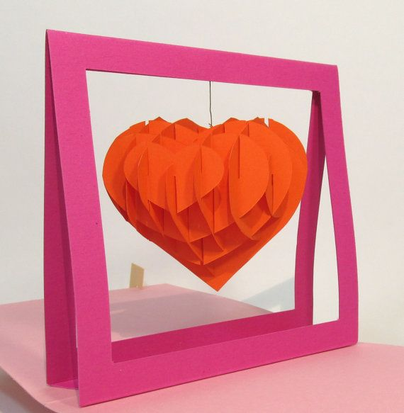 My Heart Hesitates Pop Up Card Home Made Fait Maison Cartes