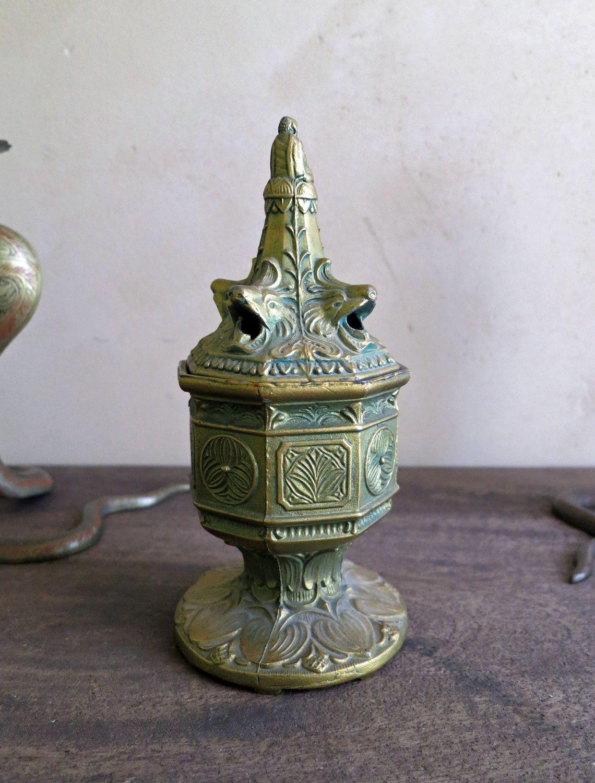 Vantines Incense Burner, Antique Buddha Incense Burner, Metal