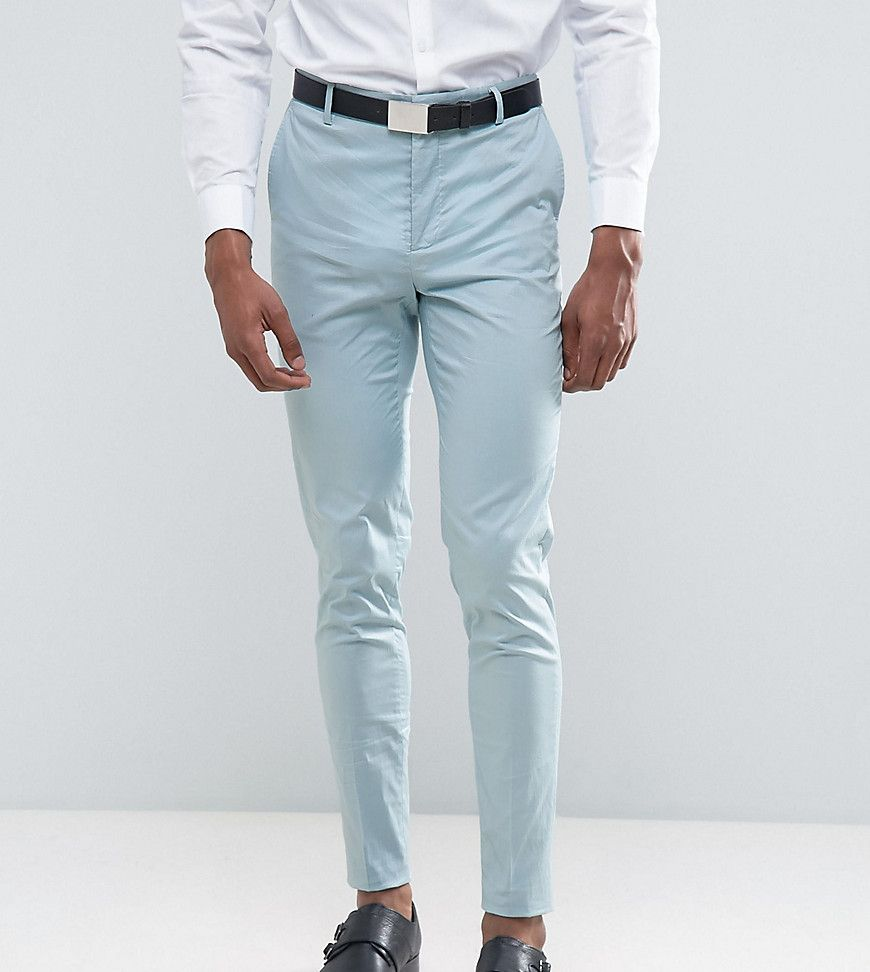 TALL Wedding Skinny Suit Pant In Light Blue Stretch Cotton | Products