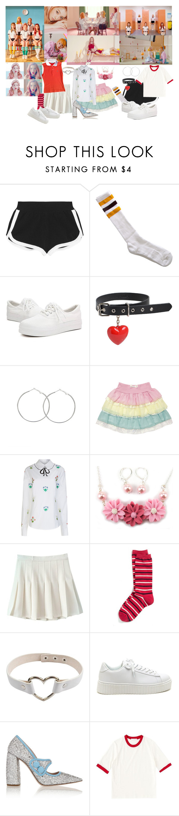 """""""Red Velvet - Russian Roulette MV """" by marissa-malik ❤ liked on Polyvore featuring Fendi, American Apparel, VIVETTA, Tommy Hilfiger and Miu Miu"""
