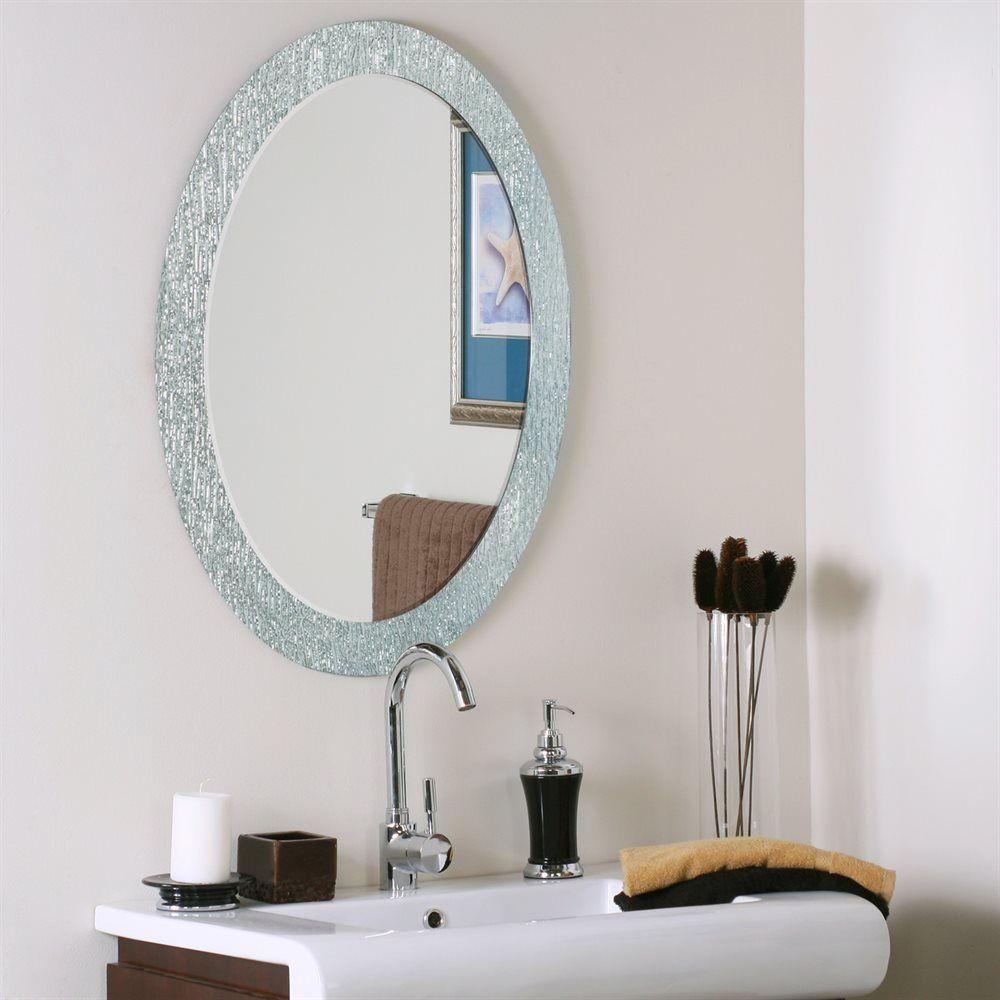 Decor Wonderland SSM5005-4 Molten Oval Bathroom Mirror | ATG Stores ...