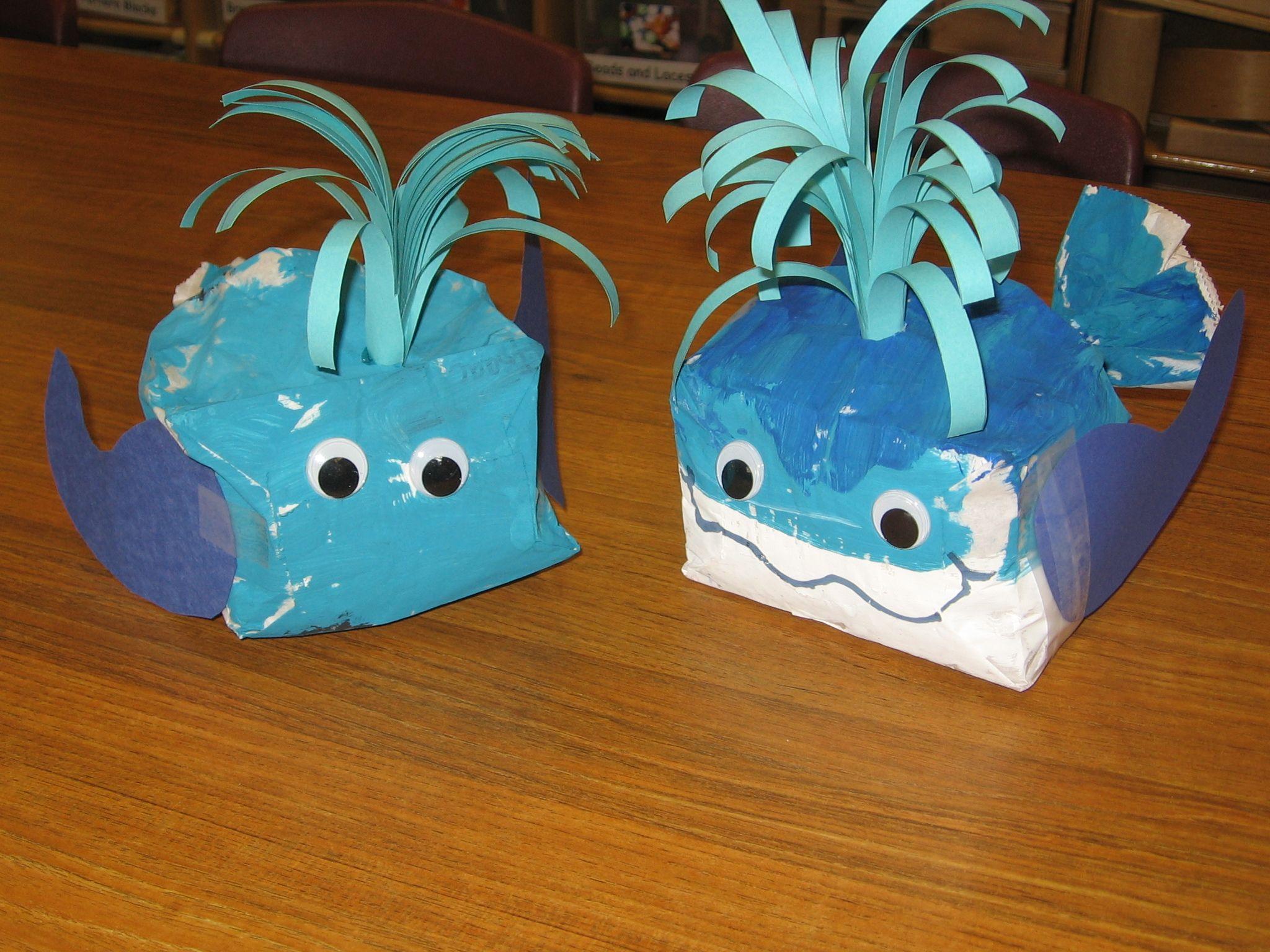 Paper Bag Whales Ocean Theme