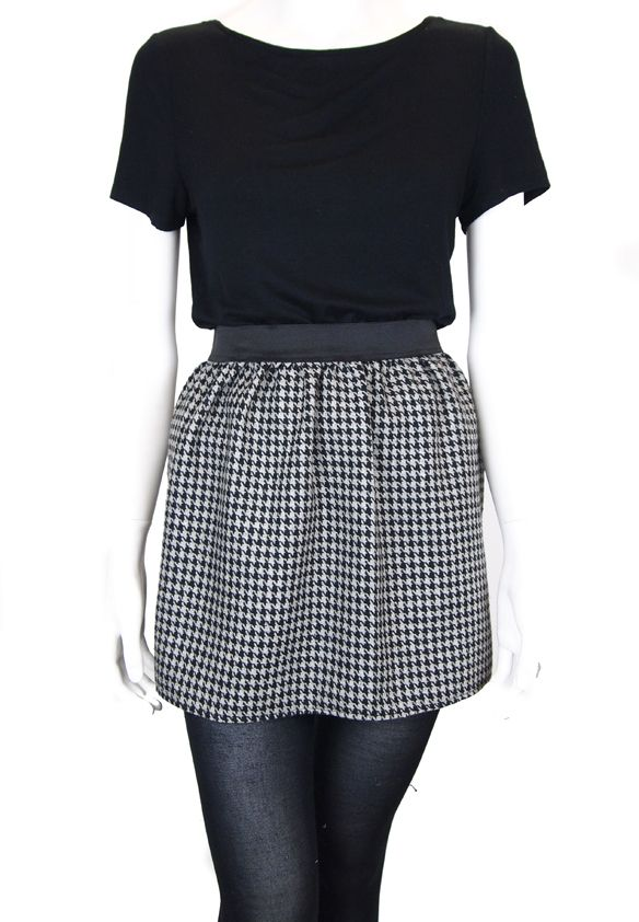 Mini skirt - dog tooth  | Mollie Brown Online boutique