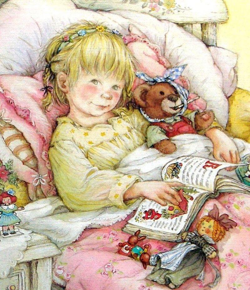 Флеш, иллюстрации дети в открытках