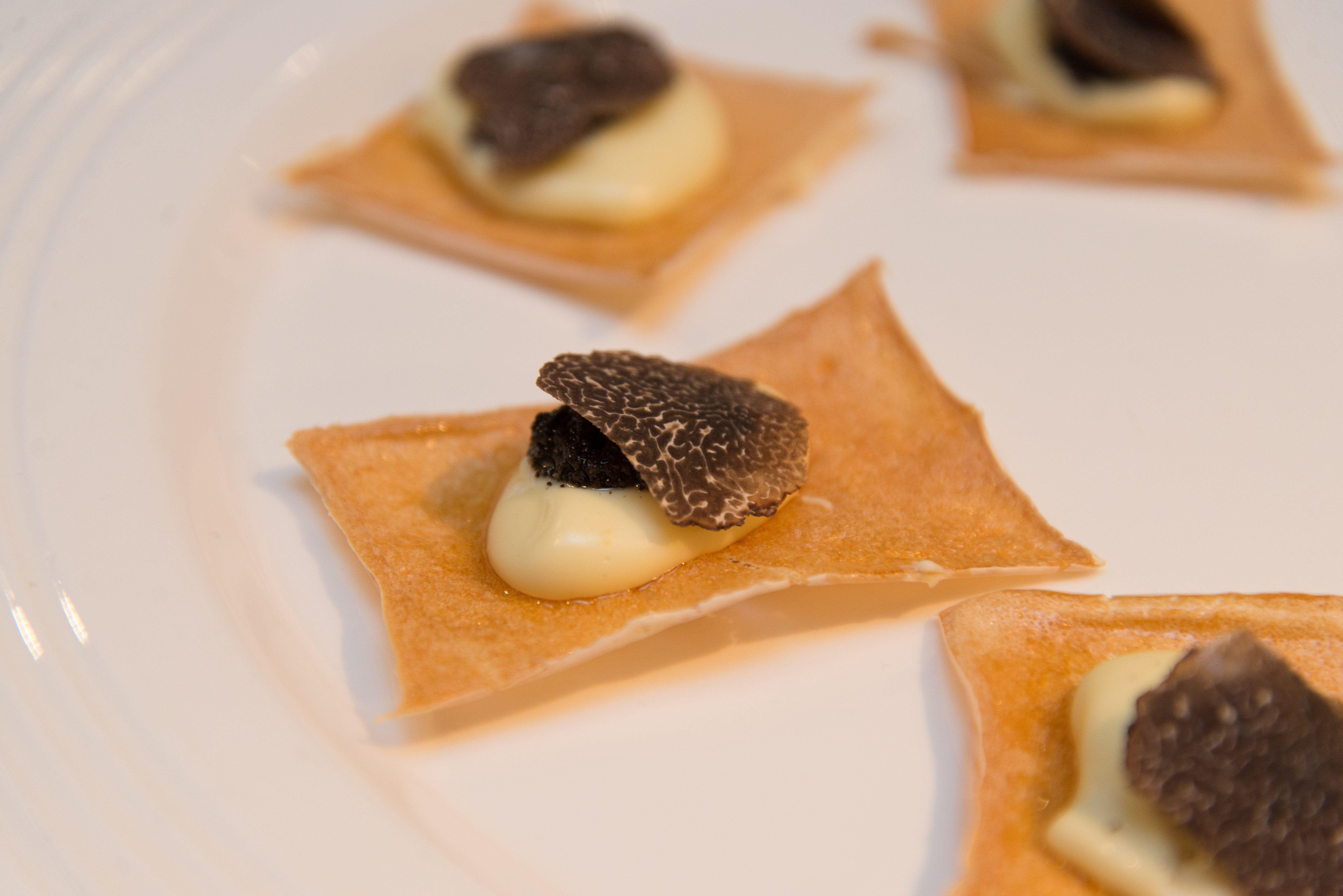 New Favorite Dish Added By Contributing Chef Matthew Accarrino Of Spqr Homemade Kuzu Crisp With Aligote Black Truffle From Favorite Dish Truffles Food