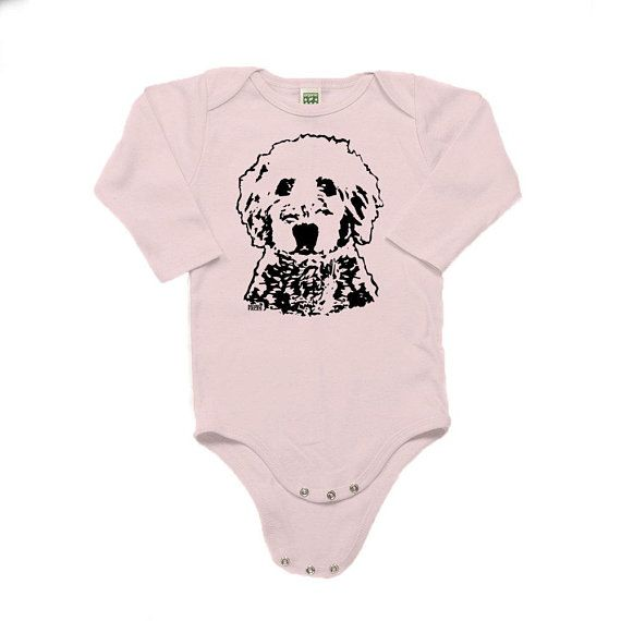 69d27df88175 Organic Baby Bodysuit For Goldendoodle Owner