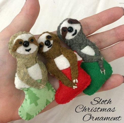 DIY – Sloth Christmas Ornaments