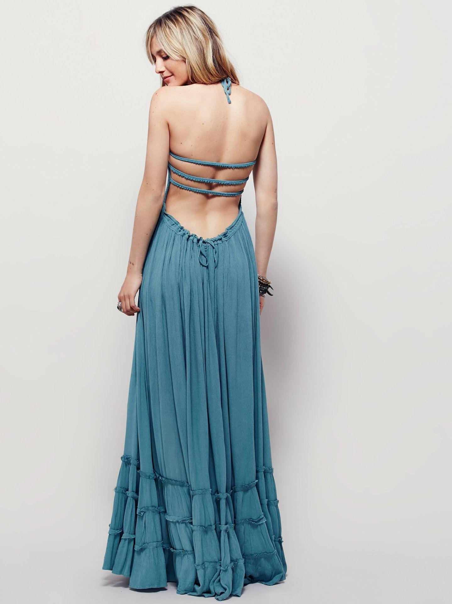 Backless Strapless Long Dress Uniqistic Com Boho Maxi Dress Backless Maxi Dresses Boho Dresses Long [ 1920 x 1438 Pixel ]