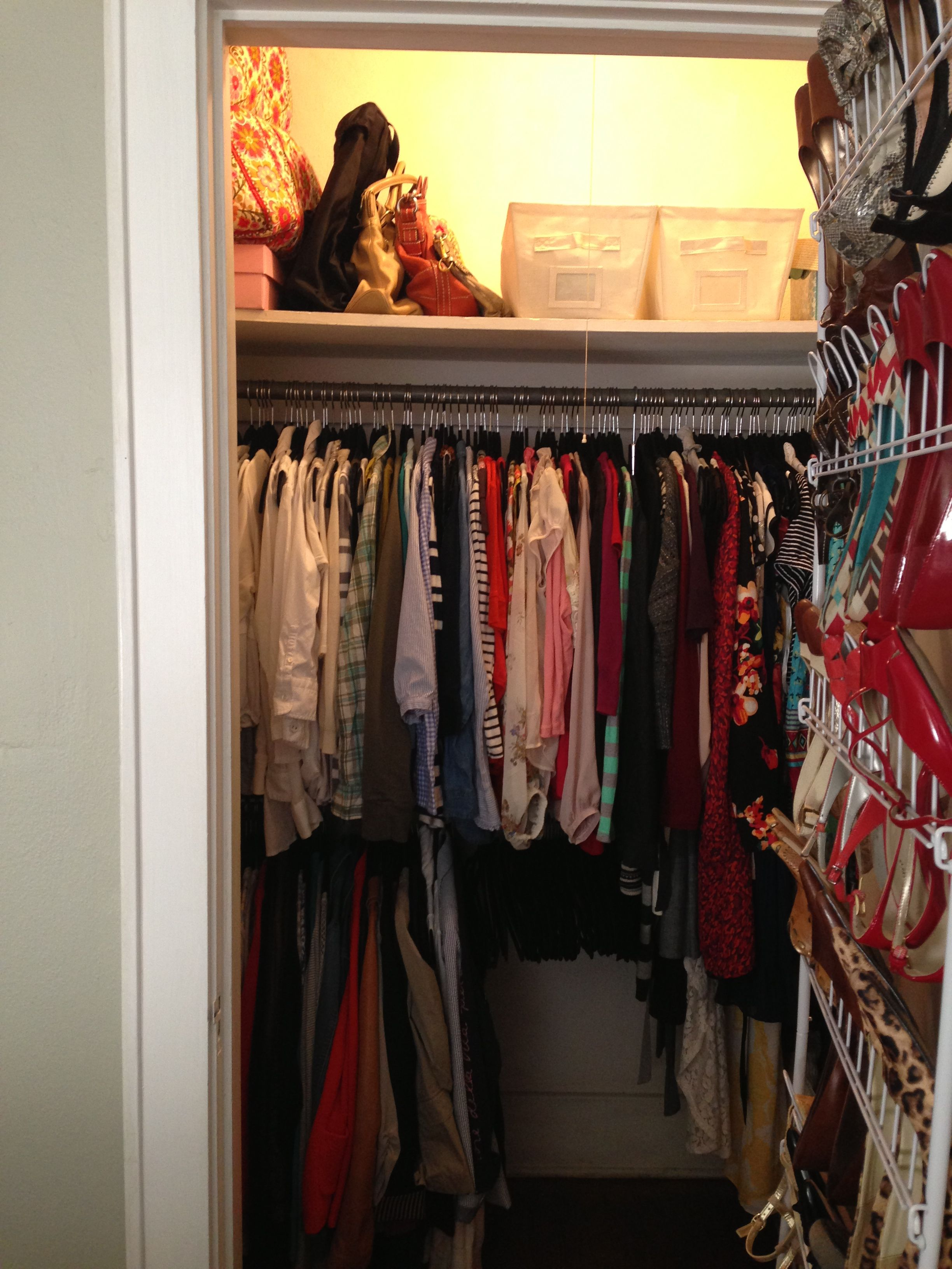 Small closet storage solutions apartment house pinterest - Storage solutions for small closets ...