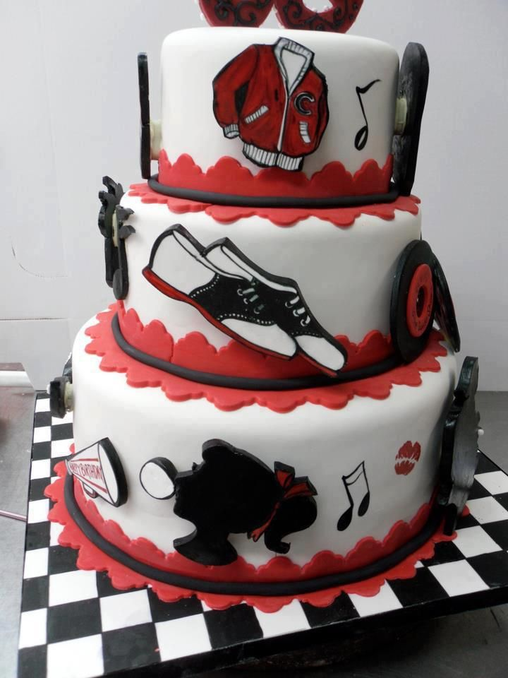 50 S Theme Cake In 2019 Rockabilly Vintage And Goth