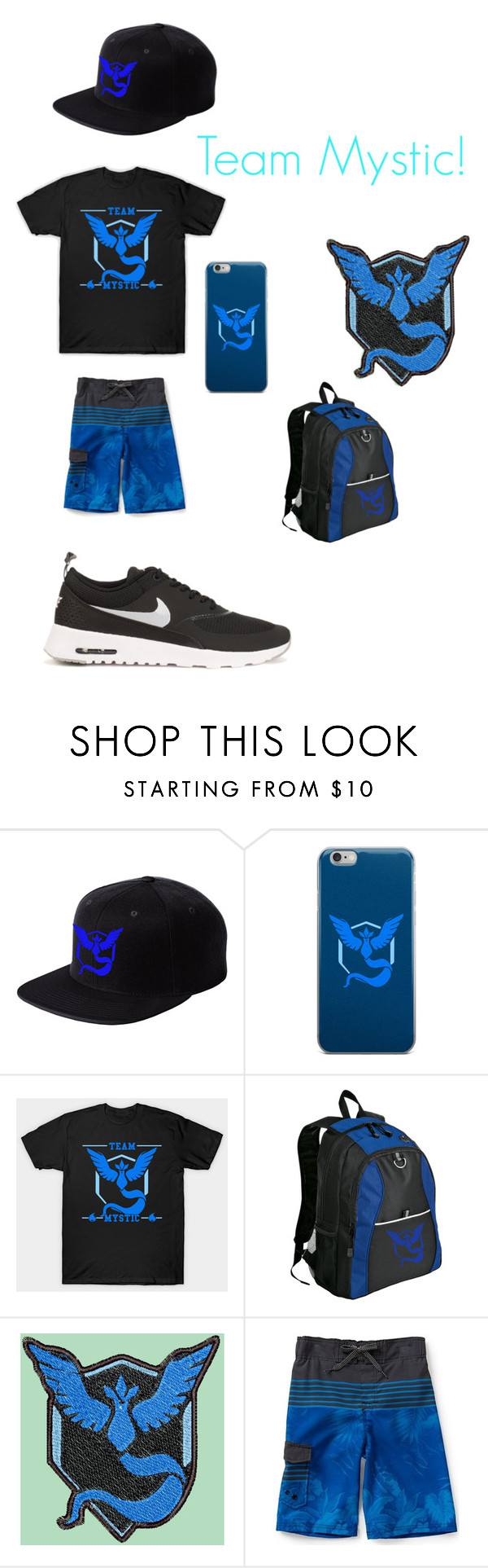 """""""Team Mystic!"""" by oreo-galaxy ❤ liked on Polyvore featuring interior, interiors, interior design, home, home decor, interior decorating, Valor and NIKE"""