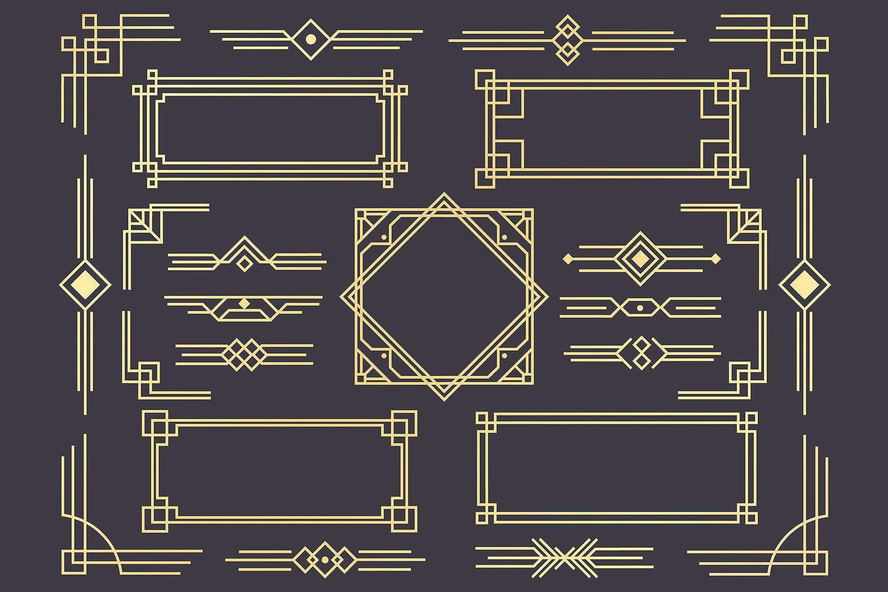 Art deco 1920s border frame divider #corners#borders#frames#cards #renaissanceart