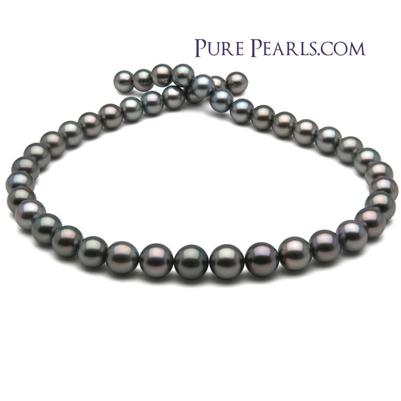 723a4abc8f7698 Another favorite from the Pure Pearls Vault! I selected this AAA quality # Tahitian #necklace for it's shimmering Silver and Peacock colors