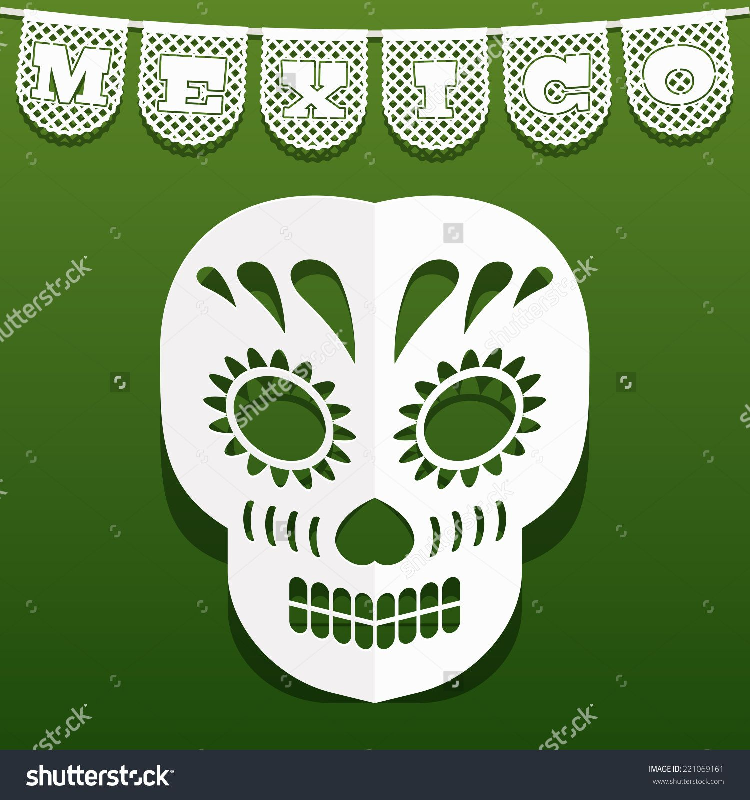 Image Result For Papel Picado Skull