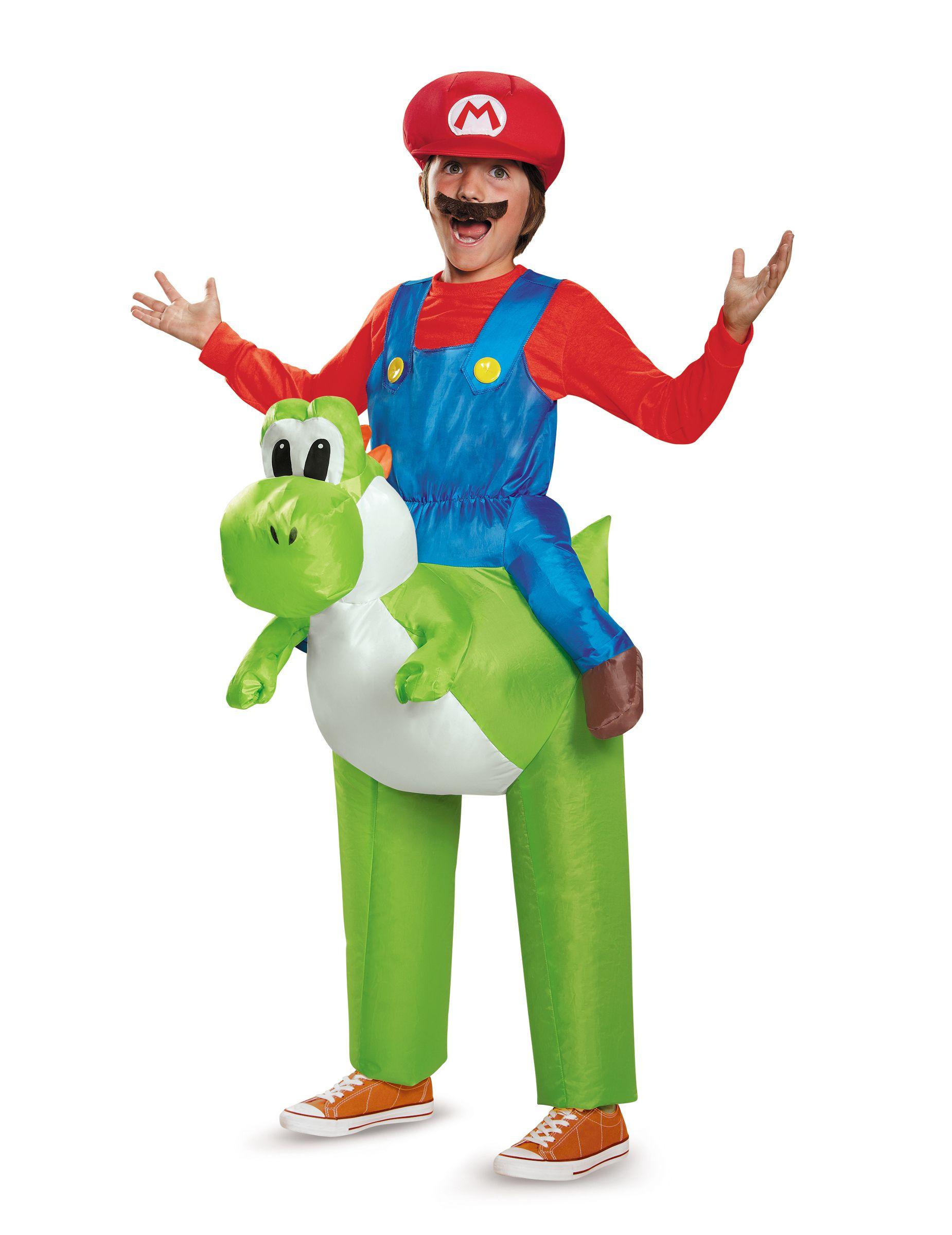 Yoshi Nintendo Carry Me Costume For Kids This Inflatable Yoshi