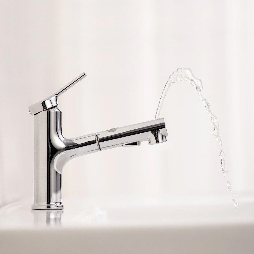 Xiaomi Dabai Bathroom Basin Sink Faucet W Pull Out Rinser Sprayer Gargle Brushing 2 Mode Mixer Tap Bathroomsink Basin Sink Bathroom Sink Faucets Basin Sink