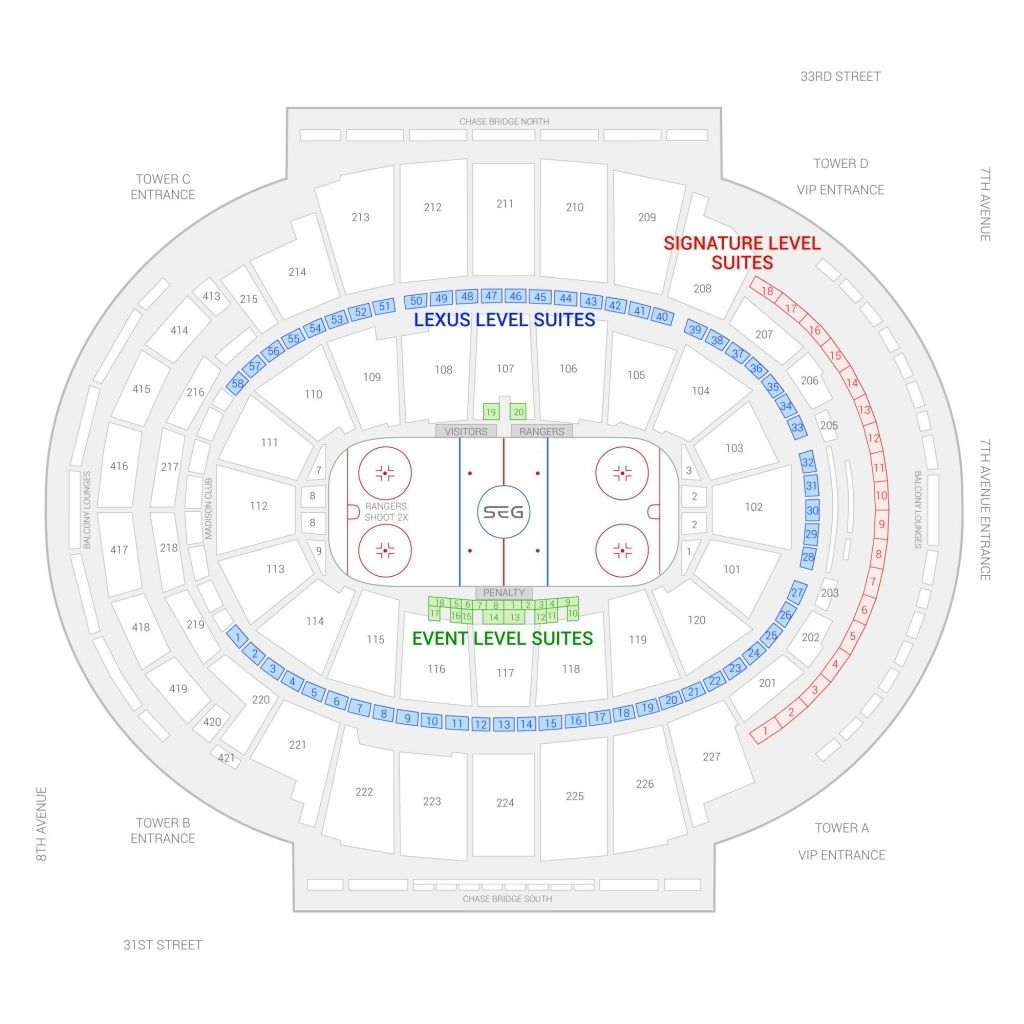 Ny Rangers Seating Charts Chart Madison Square