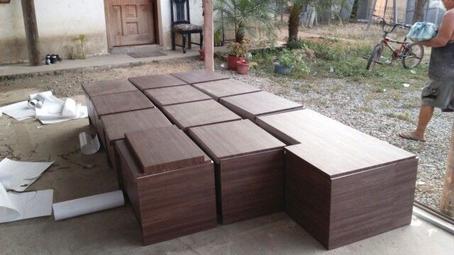 Modulos en madera contra agua laminados en texuta