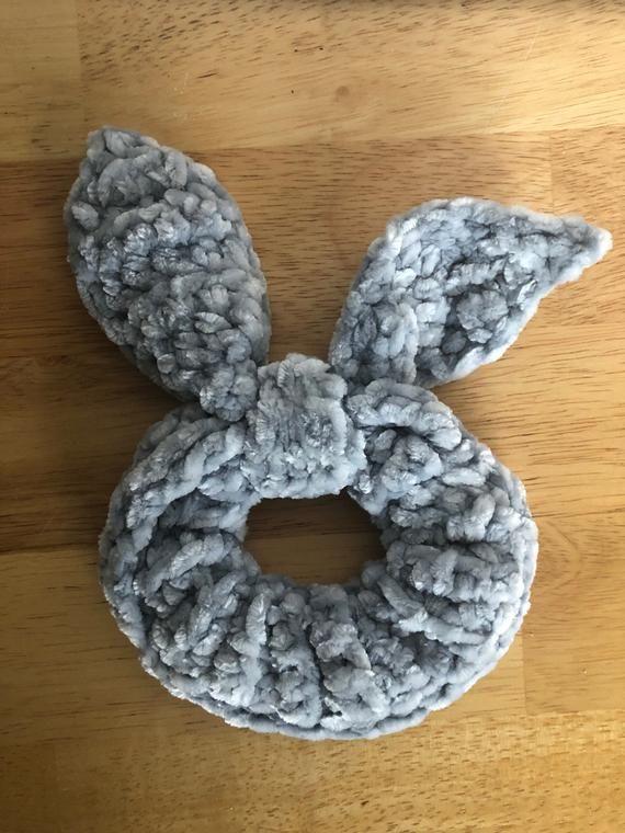 Crochet Velvet Tie Scrunchies   Christmas Gift   Stocking Stuffer #crochetscrunchies