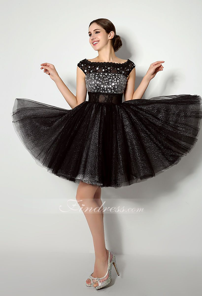 Shining beaded empire kneelength sweet dress ndress