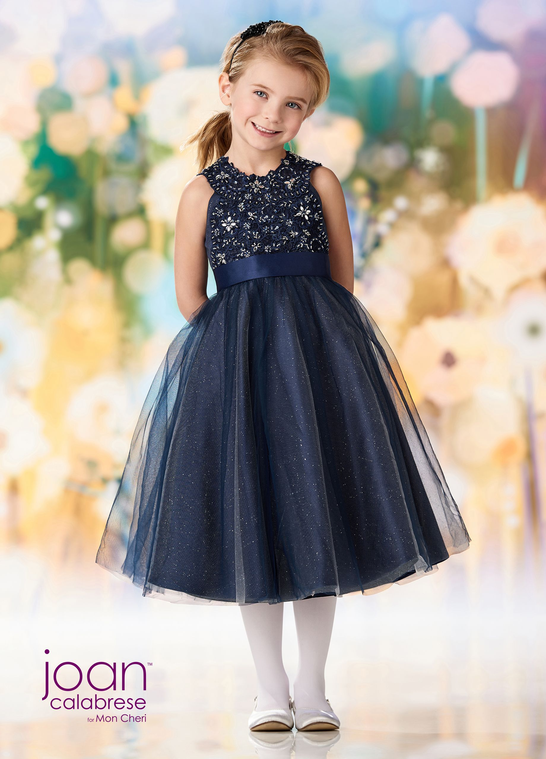 ea9aec9e4 Joan Calabrese For Mon Cheri 218363 - Satin, tulle, glitter tulle and lace  mid