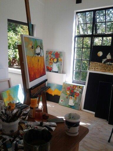 28750fb65a0 Artist studio of Glendine Art Studio At Home