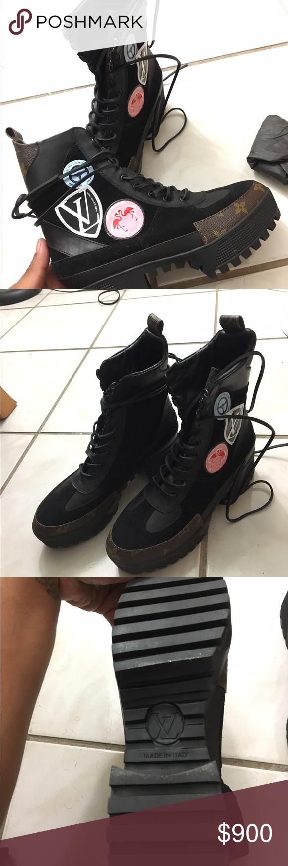 Louis Vuitton Checkpoint Platform Desert Boots Brand New Lv Boots