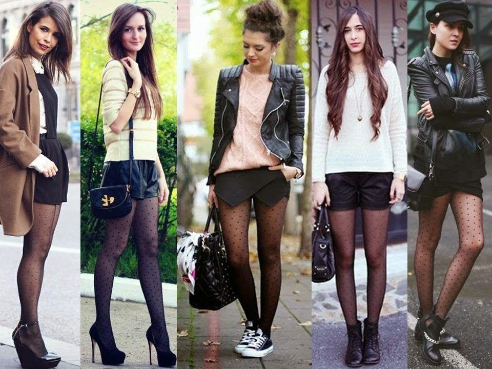 Como usar meia calça de bolinha | Looks | Como usar meias