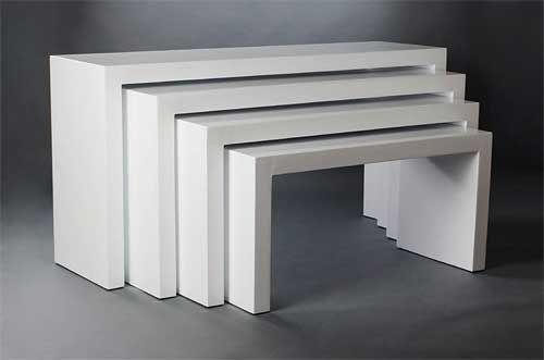 Tischplatte weiß hochglanz  Konsolex in weiß Hochglanz | Minimal Design - Möbel mit klarer ...