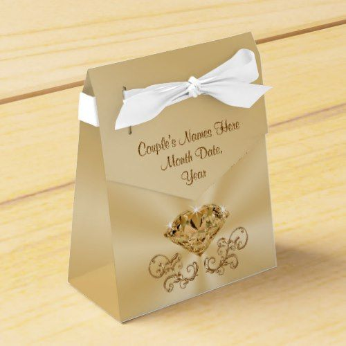 Gorgeous Personalized 60th Anniversary Favor Boxes Zazzle Com Anniversary Favors Wedding Gift Favors Wedding Anniversary Decorations
