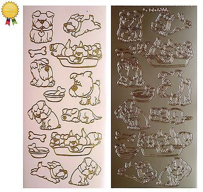 Peel off stickers *puppy dog* #basket, bone, #bowl, run, sitting - card #making,  View more on the LINK: http://www.zeppy.io/product/gb/2/331793113251/