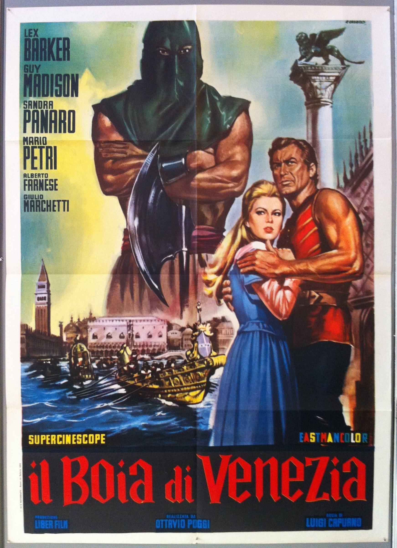 Il Boia E Di Venezia Guy Madison Italian Movie Posters Venice